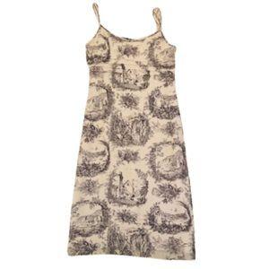 Trio New York Silk Toile Print Sleeveless Dress 6